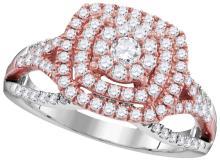Genuine 1 CTW Diamond Ladies Ring 10KT Two-tone Gold - GD105851-REF#122X2Y