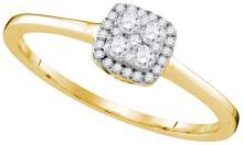 Genuine 0.20 CTW Diamond Ladies Ring 10KT Yellow Gold - GD109590-REF#17H9W