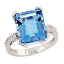 Natural 5.48 ctw Swiss-blue-topaz & Diamond Engagement Ring 10K White Gold - SC-CW904141-REF#39V6F