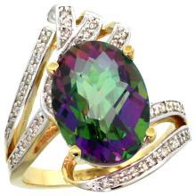 Natural 5.76 ctw mystic-topaz & Diamond Engagement Ring 14K Yellow Gold - SC-R309911Y08-REF#92R7Z