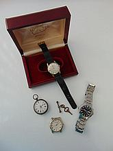 A gentleman's 9ct gold wristwatch, Longines, the silvered dial with gilt baton a