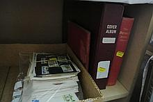 Two stamp albums containing a quantity of British and worldwide stamps including