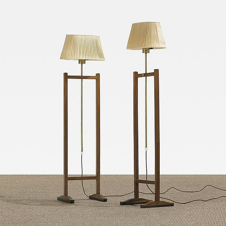 Josef Frank adjustable floor lamps, pair
