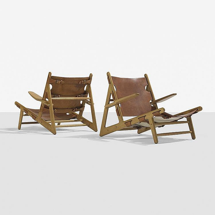 Børge Mogensen Hunting chairs, pair