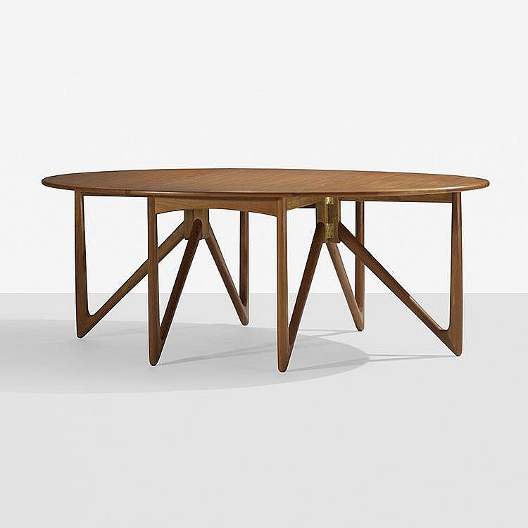 Kurt Ostervig drop-leaf dining table