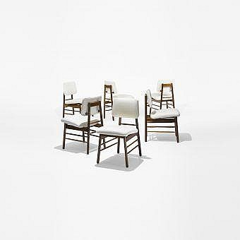 Greta Magnusson Grossman dining chairs, set of six