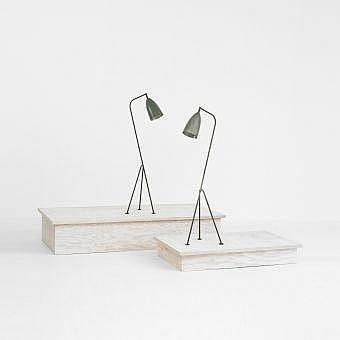 Greta Magnusson Grossman Grasshopper floor lamps,