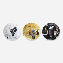 Jean-Michel Basquiat porcelain plates, set of three