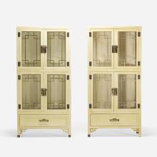 Century Furniture display cabinets, pair
