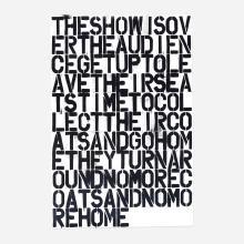 Christopher Wool & Felix Gonzalez-Torres poster