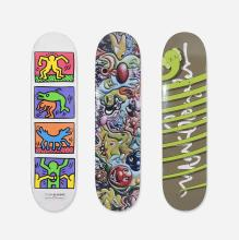 Various Artists skateboard decks, set of three