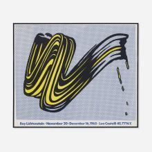 Roy Lichtenstein poster for exhibition w/ Leo Castelli