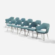 Eero Saarinen dining chairs, set of ten