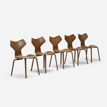 Arne Jacobsen, Grand Prix chairs, set of five