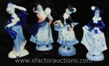 (4) Occupied Japan Dutch-Style Figurines