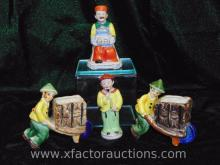 (4) Occupied Japan Asian Figurines & Vases