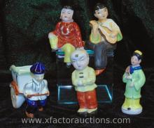 (5) Occupied Japan Asian Figurines