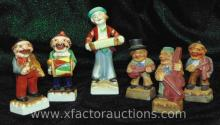 (5) Occupied Japan Musician Figurines