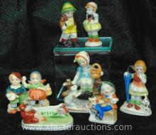 (6) Occupied Japan Children Figurines