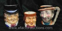 (2) Vintage Occupied Japan Toby Character Mugs & Other