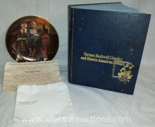 Norman Rockwell Classics Plate, Historic American Stamps & Rockwell Plate