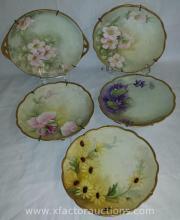 (5) Vintage Decorative Plates J&C G.H.B. Co and HC Royal Bavaria