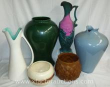 (6) Assorted Royal Haegar & Haegar Pottery Vases & Containers