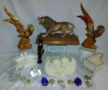 (18) Pieces of Assorted Figurines & Trinket Boxes
