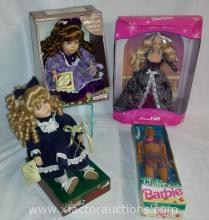 (2) Dan Dee Collectors Choice Dolls, (1) Barbie & (1) Ken Dolls