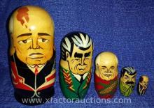 Foreign Presidential Wood Nesting Doll Set