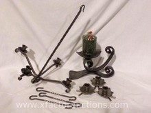 (3) Wrought Iron Candle Holders
