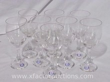 (8) Kastrup Danish Glass Wine Glasses