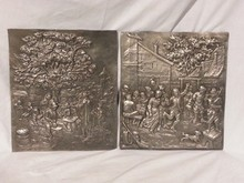 Pair of Pewter Plaques/Wall Decor