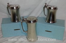 (2) Vintage Pewter Steins