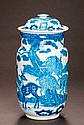 A LIDDED VASE WITH DEER AND LONG-LIFE SYMBOLS
