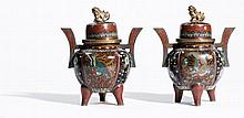PAIR OF DECORATIVE VASES IN ARCHAIC STYLE