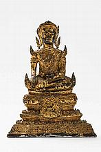 BUDDHA SEATED ON HIGH BASE