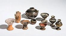 COLLECTION OF NINE MINIATURE VESSELS