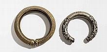 TWO DECORATIVE ARM RINGS