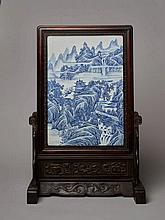 PORCELAIN PICTURE WITH MOUNTAIN LANDSCAPE