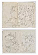 KITAGAWA UTAMARO (1750 - 1806): TWO SKETCHES