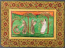 KRISHNA AS CHILD WITH NANDA AND YASHODA
