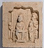 FRIEZE DEPICTING DAME PLAYING THE QIN