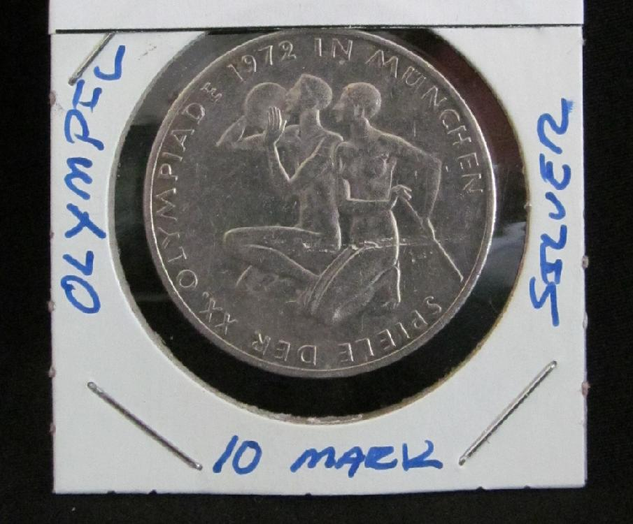 10 Mark German Olympic Silver Coin