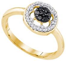 10K Yellow-gold 0.27CTW DIAMOND FSAHION RING #57740v3