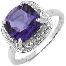2.80 ct. t.w. Amethyst and White Topaz Ring in Sterling Silver #77429v3