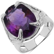 7.83 Carat Genuine Amethyst .925 Sterling Silver Ring #77491v3