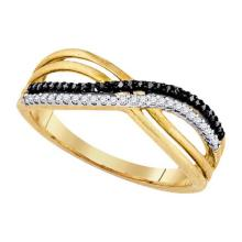 925 Sterling Silver Yellow 0.15CT DIAMOND MICRO-PAVE RING #55912v3