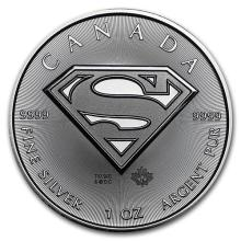 2016 Canada 1 oz Silver $5 SUPERMAN #44173v3