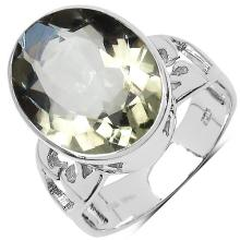 8.20 Carat Genuine Amethyst .925 Sterling Silver Ring #77498v3